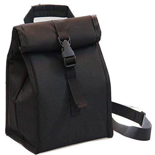 Insulated Lunch Bag Thermal Foldable Lunch Box with Adjustable Shoulder Strap for Men, Adults, Women Office, Work, Picnic Hiking Beach