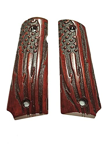 American Flag Rosewood Grips Compatible/Replacement for Browning 1911-22 1911-380 Grips