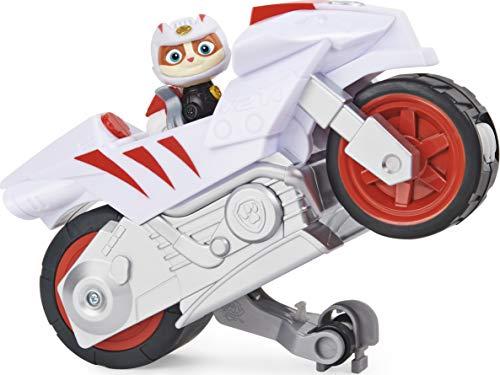 PAW PATROL Moto Pups Wildcat's Deluxe Pull Back Motorcycle Vehicle with Wheelie Feature and Figure Wildcat Vehículo de Motocicleta con Ruedas (Spin Master 6060433)