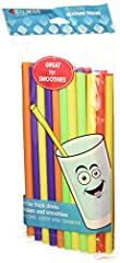 50 COLORFUL STRAWS: perfect for enjoying cold drinks GREAT FOR: milkshakes, smoothies, ice cream floats, and more A RAINBOW OF COLORS: features blue, green, yellow, orange, purple, and red straws DURABLE: plastic straws won't fall apart in your drink...