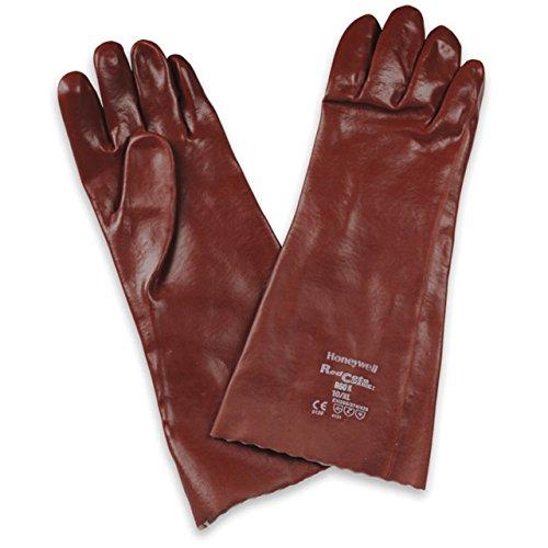 Honeywell R60X/10XL Redcote Plus R60X Gants Protection Chimique Multi-Usages, EN 388 4221, EN 374-3 AKL - Taille 10XL (Pack de 12 paires)