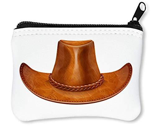 Cowboy Hat Graphic Billetera con Cremallera Monedero Caratera