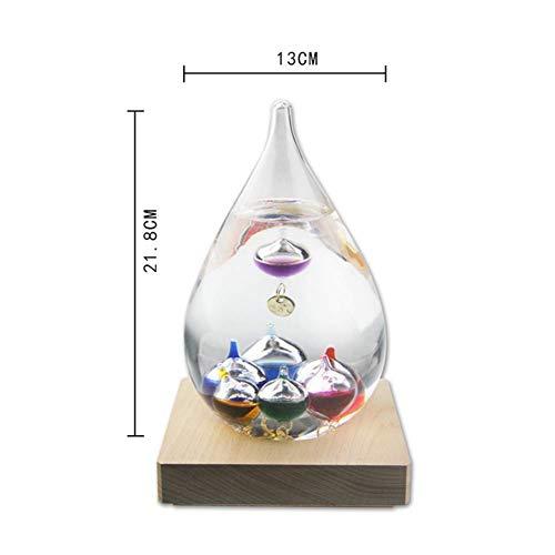 Cozywind Galileo - Termometro in Vetro con Sfere Colorate, Colore Pallina, Facile da Leggere, Decorazione Regalo