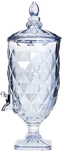 Dispenser De Cristal Ecológico Azul Metalizado Diamond 5l Lyor Azul No Voltagev