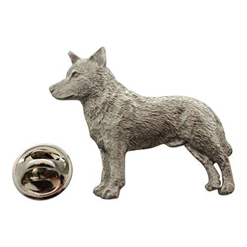 Sarah's Treats & Treasures Australian Cattle Dog Pin ~ Antiqued Pewter ~ Lapel Pin