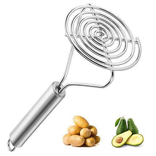 Guoofu Kartoffelstampfer aus Edelstahl, robust, rund, für Kartoffelstampfer geeignet, guter Griff