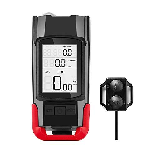 potenciometro Ciclismo velocimetro Ciclismo de la computadora Sensor de cadencia Velocímetro Bicicleta velocímetro Velocímetro de Bicicletas Red,One Size