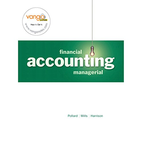 VangoNotes for Financial and Managerial Accounting, 1/e cover art