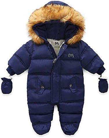 WALLARENEAR Infant Baby Boys Girls Winter Snowsuit Romper Hoodied Footie Outwear Toddler Jumpsuit product image