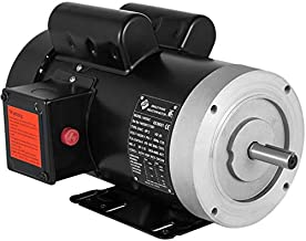 Mophorn Electric AC Motor, 2HP Air Compressor Motor 1725rpm Single Phase 56C Frame Electric Motor for Air Compressor, 115V/230V