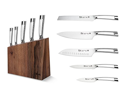 Cangshan N1 Series 6-Piece German Steel Forged Knife Block Set, Walnut Block