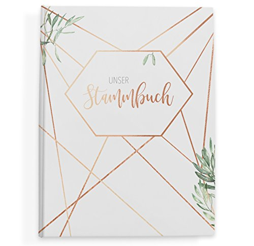 bigdaygraphix Hochzeit Stammbuch der Familie Familienstammbuch Copper & Green (Grün) 16 x 21 cm (DIN A5 und Kleiner)