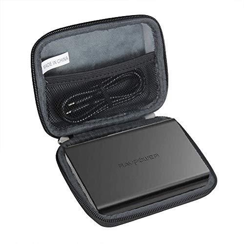 Hermitshell Hard EVA Travel Case for Portable Charger RAVPower 10000mAh Power Bank (Black)