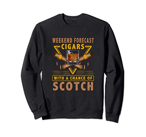 Cool Cigar and Scotch T-Shirt for Old Guys or Dads Gifts Sweatshirt
