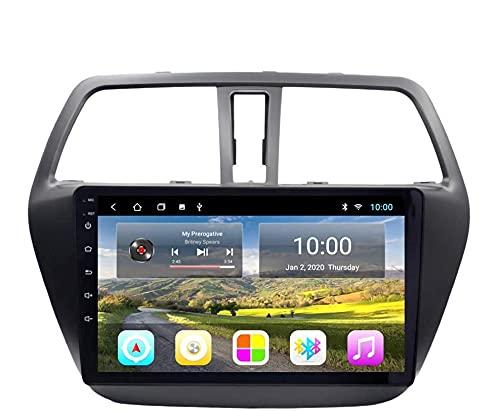 Android 10.0 Navigazione GPS Autoradio per Suz-uki S-Cross 2014-2017 IPS Schermo tattile Autoradio Stereo Supporta Il Controllo del Volante BT Mirror-Link FM 4G WiFi