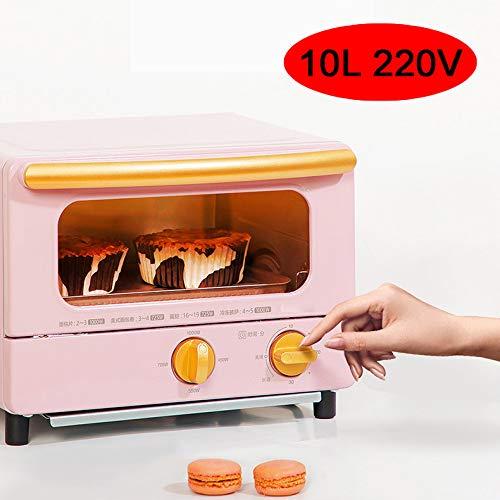 MAOMAOQUEENss El Mini Horno 1000W De 1000 W, La MáQuina De Desayuno MultifuncióN para El Hogar, Tostadas para Hornear, Pasteles, Pescado, Etc, Festival,Pink
