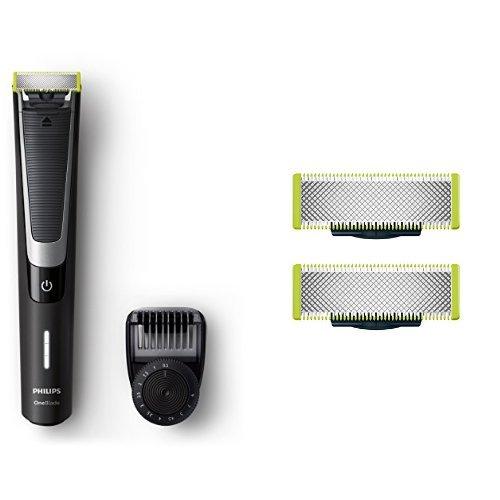 Philips OneBlade Pro QP6510/30, Trimmen, Stylen, Rasieren / Präzisionskamm für 12 Längen, 2 Ersatzklingen