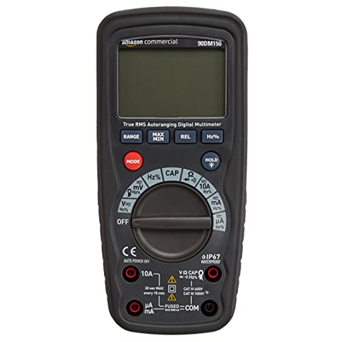 AmazonCommercial 4000-Count Compact Digital Multimeter, IP67, True RMS, CATIV 600V