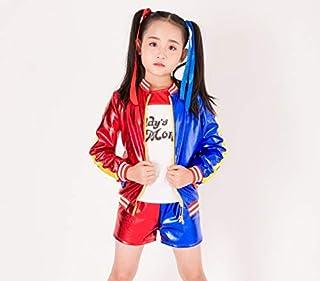 ハーレイ・クイン 風 コスプレ 衣装 子供用 スーサイド スクワット ハーレー クィーン Harley Quinn ハロウィン 仮装 XL