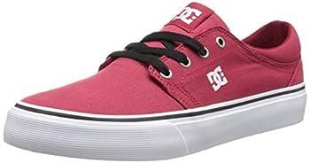 DC Men s Women s Trase TX Skate Shoe Dark Red 4 M US