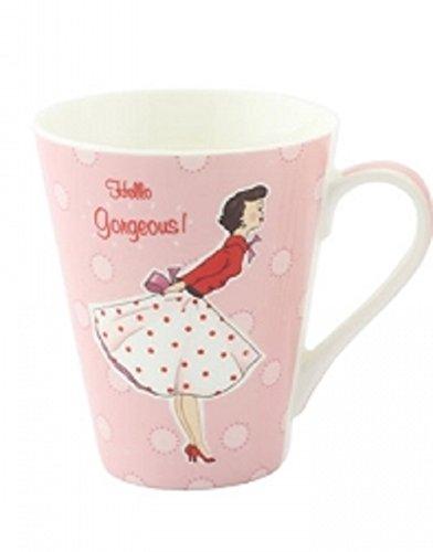 Leonardo Mrs Smith Mug rétro Porcelaine fine Rose « Hello Gorgeous\