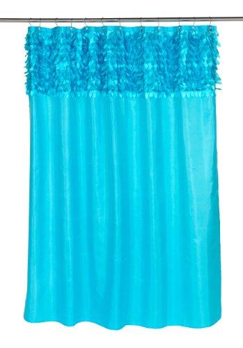 Carnation Home Fashions Jasmin Stoff Duschvorhang, Cyan blau