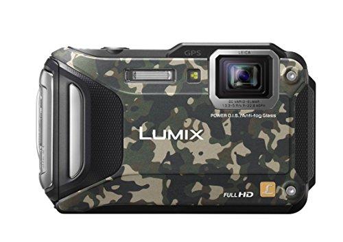Panasonic LUMIX DMC-FT5EG9-Z Outdoor Kamera (3 Zoll LCD-Display, LEICA Weitwinkel Objektiv mit 4,6x opt. Zoom, wasserdicht bis 13 m, GPS, WiFi) camouflage