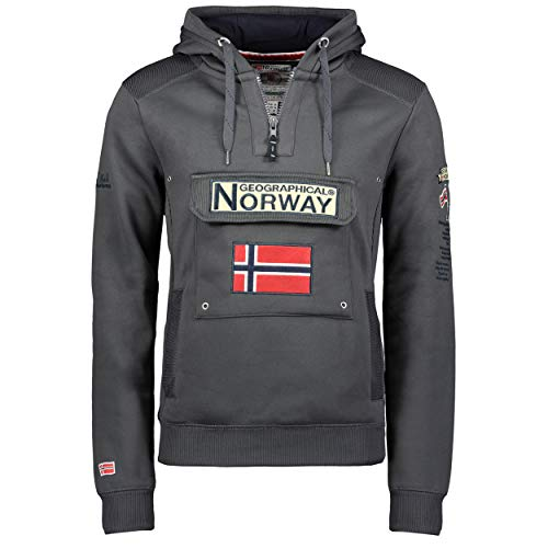 Geographical Norway - Sudadera DE Hombre GYMCLASS Gris Oscuro M