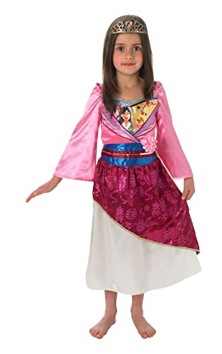 Rubies - Disfraz de Mulán brillante infantil (889217-M)