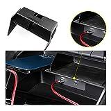 CDEFG Para Aud*i A3 8Y 2021+ Consola Central Control Multifuncional Almacenamiento Auto Center Console Organizer Tray Interior Accesorios