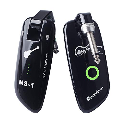 Mefe Rechargeable Wireless Guitar System Guitar Bass Wireless Digital Transmitter Receiver