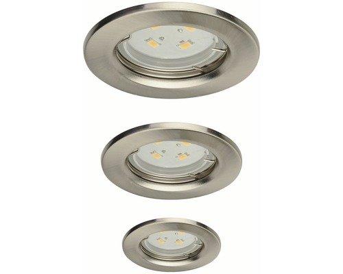 Light Topps Lot de 3 spots LED encastrables en métal GU10 104 lm