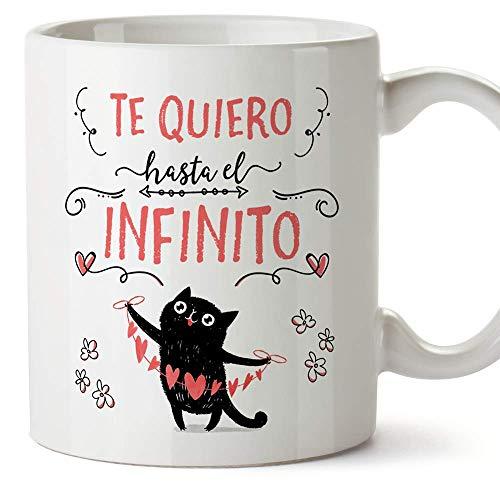 MUGFFINS Taza San Valentín (Te quiero) - Te quiero infinito - Regalos...