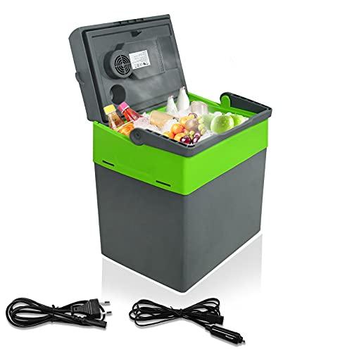 HENGMEI Kühlbox Mini-Kühlschrank KÜHLT und WÄRMT Thermo-Elektrische tragbare Gefrierbox 12/230 V für Auto, LKW und Steckdose (30L)
