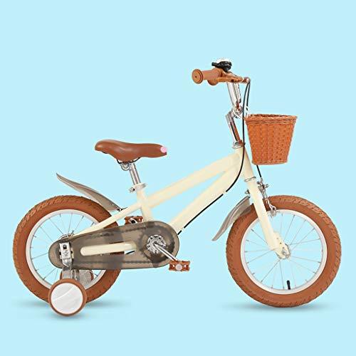 TXTC Mädchen Bike, Lauflernrad Fahrrad Mit Stützrädern, Kinderfahrrad Mit Korb, Kotflügel, Stoßdämpfer City Bike, High Carbon Stahl, Dual Disc Brake, for 3-10 Jahre Alt Kinder Fahrrad