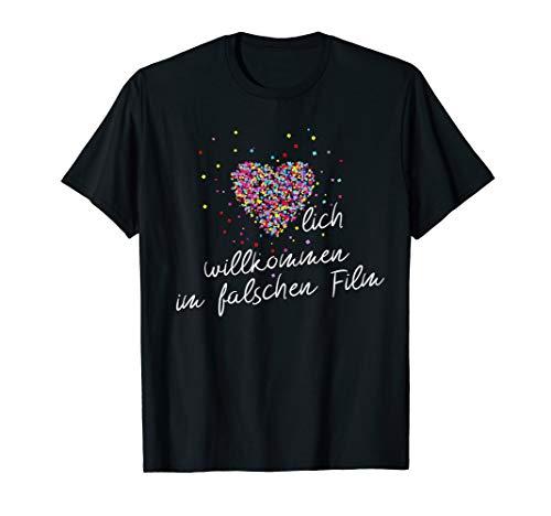 Herzlich willkommen im falschen Film - Kino Geek Cosplay T-Shirt