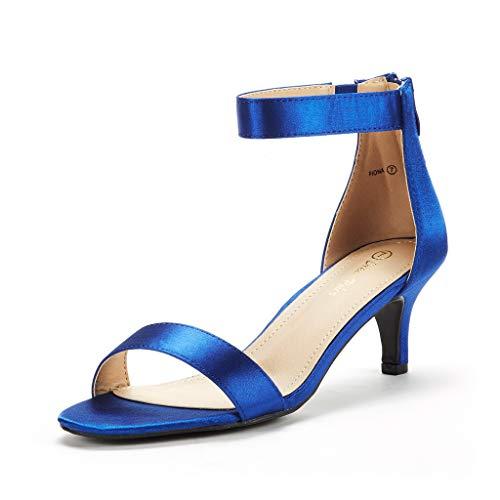 DREAM PAIRS Women's Fiona Royal Blue Fashion Stilettos Open Toe Pump Heeled Sandals Size 9.5 B(M) US