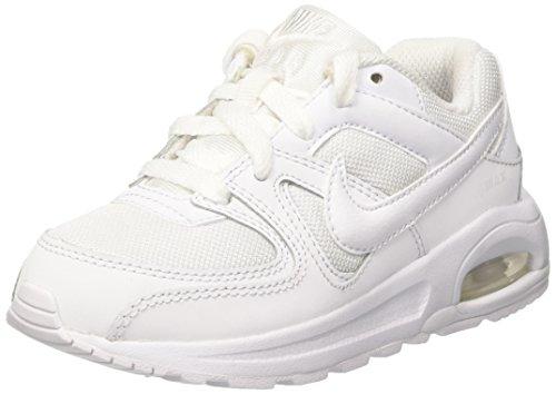 Nike Jungen AIR MAX Command Flex (PS) Laufschuhe, Weiß (White/White-White 101), 31 EU