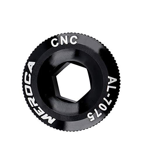 NAYAO Manivela de pedalier de Bicicleta M18 / M19 / M20, Cubierta de manivela de Tuerca de Juego de bielas de aleación de Aluminio(M19,Black)