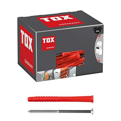 TOX Taco largo universal Constructor XL 10 x 160 mm + tornillo, 25 piezas, 022102521