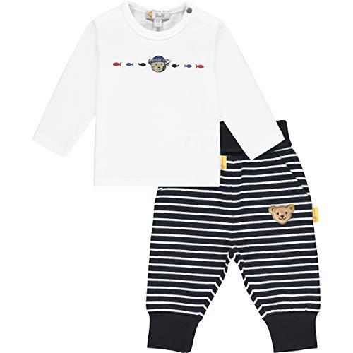 Steiff Set Hose+T-Shirt Juego de pantalón y Camiseta, Azul Marino, 56 cm para Bebés