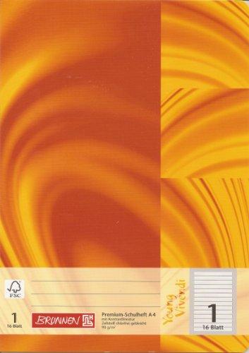 Brunnen Heft A4/16 Bl. Lin.1 YoungViv [Bürobedarf & Schreibwaren]