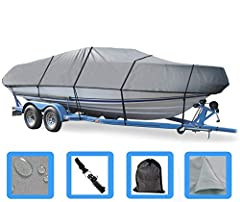 EXTREMELY HEAVY-DUTY Boat Cover For CROWNLINE- fits CROWNLINE 225 BR I/O 1994 1995 1996 1997 1998 1999 2000 2001 2002 PROTECT YOUR BOAT-NEW, IMPROVED TECHNOLOGY: 600 Denier Heavy-Duty, Breathable, Urethane Coated Marine Grade Woven Canvas Polyester. ...