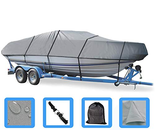 Boat Cover for ALUMACRAFT Classic 165 CS W/TM and Side Console 2006-2012 Heavy-Duty