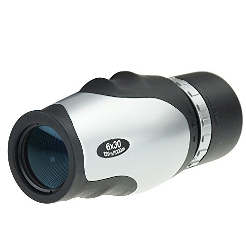 Gosky 6x30 Wide View Monocular - Porro Prism Fogproof Monocular Telescope - Extremely Large Eyepiece, Blue Film Lens - Ideal Gadget for Travelling/Games/Hunting/Camping/Concerts/Bird Watching etc
