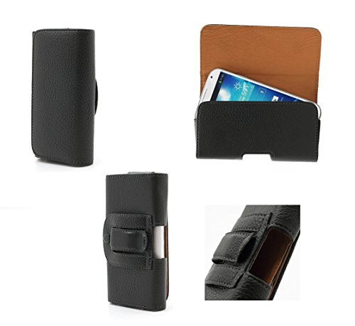 DFV mobile - Funda Cinturon Clip Horizontal Piel Sintetica Premium para sunstech usun250 / usun 250 - Negra