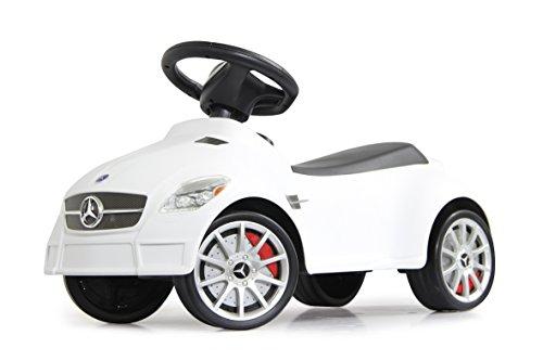 Jamara 460206 - Rutscher Mercedes SLK55AMG weiß – Kippschutz, Flüsterreifen, echte Scheinwerferattrappen, Hupe, dem Original nachempfundenen Kühlergrill, offiziell lizenziert, wertige Verarbeitung