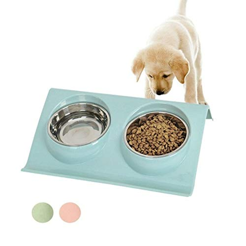 GSDJU Double Bowl Pet Dog Cat Feeder Elevated Raised Feeding...