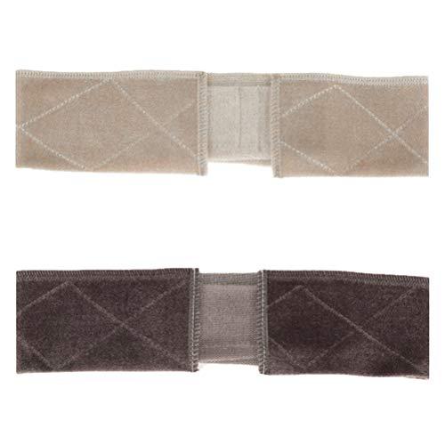 Pruik hoofdband 2 verstelbare pruikenhandvat, flexibele sjaal hoofdband, antislip pruik, accessoire voor dames en heren beige+bruin