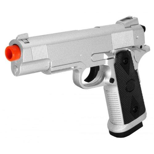 zm25 m1911 spring airsoft pistol full metal fps-230 (silver)(Airsoft Gun)